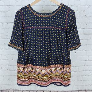 Anthro Holding Horses Minas Embroidered Top